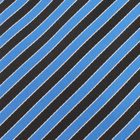 Striped Blue Black Bow Tie