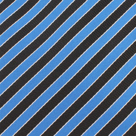 Striped Blue Black Pocket Square