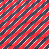 Striped Maroon with Navy Blue Fabric Pocket Square X148
