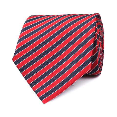 Striped Maroon with Navy Blue Tie