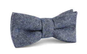 Suffolk Donegal Blue Wool Bow Tie