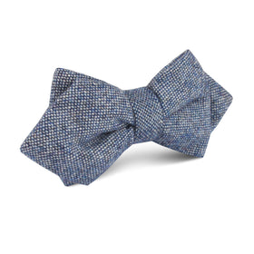 Suffolk Donegal Blue Wool Diamond Bow Tie