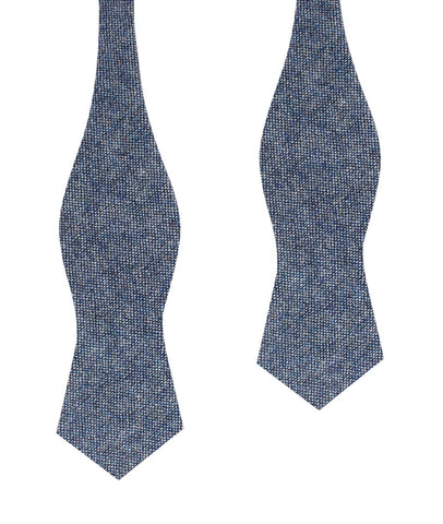 Suffolk Donegal Blue Wool Diamond Self Bow Tie