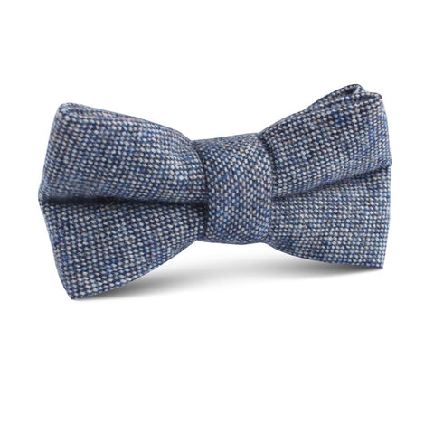 Suffolk Donegal Blue Wool Kids Bow Tie