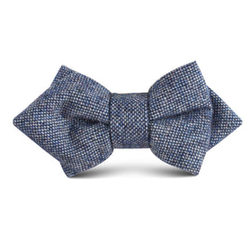 Suffolk Donegal Blue Wool Kids Diamond Bow Tie