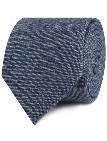 Suffolk Donegal Blue Wool Tie