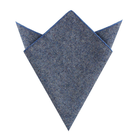 Suffolk Donegal Blue Wool Pocket Square