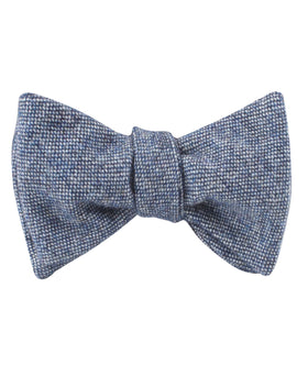 Suffolk Donegal Blue Wool Self Bow Tie