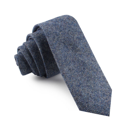 Suffolk Donegal Blue Wool Skinny Tie