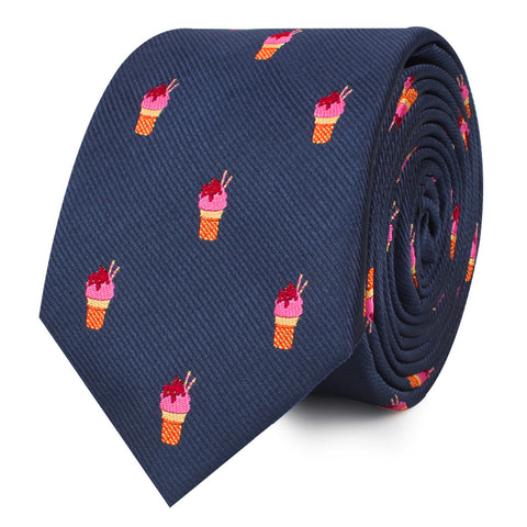 Sunday Ice Cream Skinny Tie