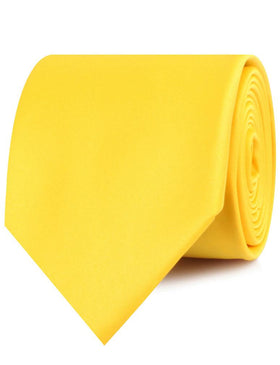 Sunflower Chrysanthemum Yellow Satin Necktie