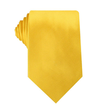 Sunflower Yellow Basket Weave Necktie