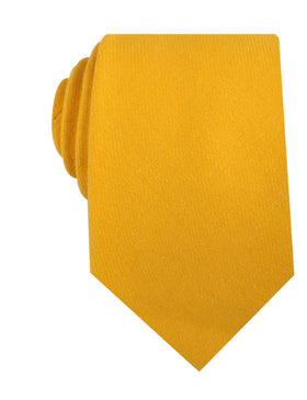Sunflower Yellow Chevron Linen Necktie