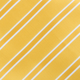 Sunflower Yellow Double Stripe Bow Tie