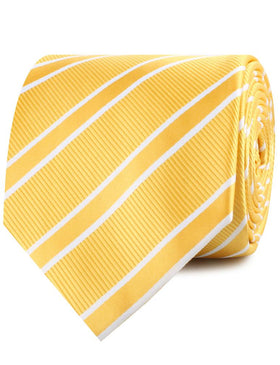 Sunflower Yellow Double Stripe Necktie
