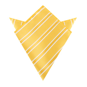 Sunflower Yellow Double Stripe Pocket Square