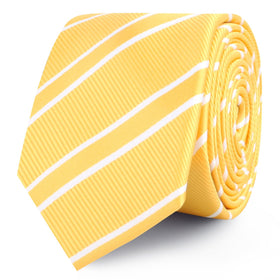 Sunflower Yellow Double Stripe Skinny Tie