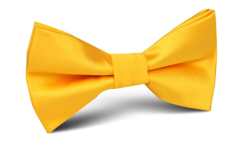 Sunflower Yellow Satin Bow Tie