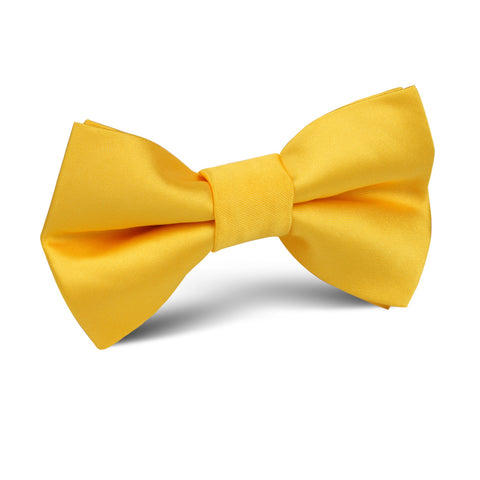 Sunflower Yellow Satin Kids Bow Tie