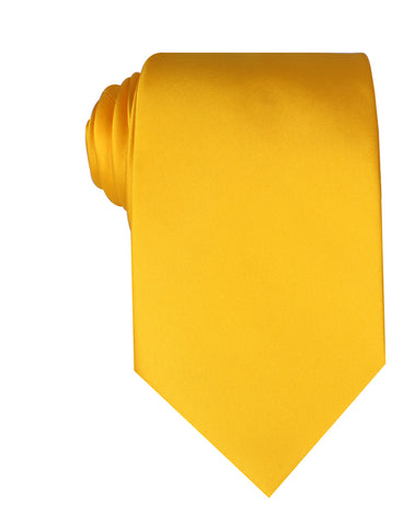 Sunflower Yellow Satin Necktie