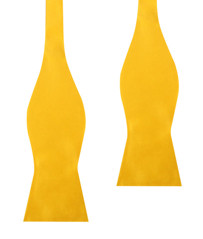 Sunflower Yellow Satin Self Bow Tie