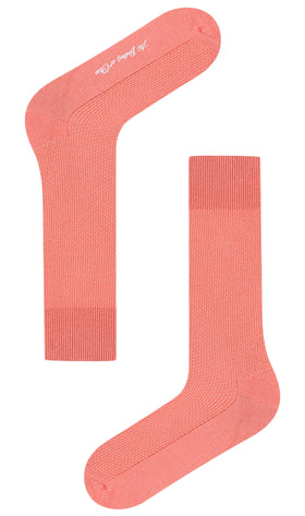 Sunset Dark Peach Textured Socks