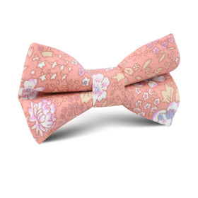 Sunset Pink Floral Kids Bow Tie