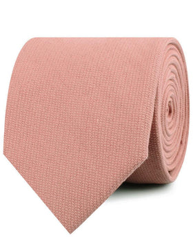 Sunset Peach Linen Twill Necktie