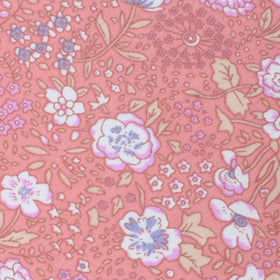 Sunset Pink Floral Pocket Square