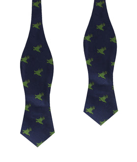 T-Rex Pixel Dinosaur Diamond Self Bow Tie