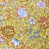 Tahitian Yellow Floral Self Bow Tie Fabric