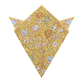 Tahitian Yellow Floral Pocket Square
