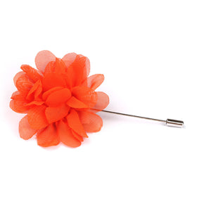 Tangelo Orange Lapel Flower Pin Front Boutonniere