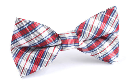 Tango Maroon with Blue Stripes Bow Tie