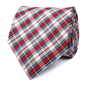 Tango Maroon with Blue Stripes Necktie