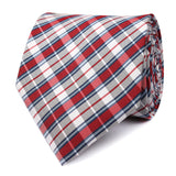 Tango Maroon with Blue Stripes Necktie Front View
