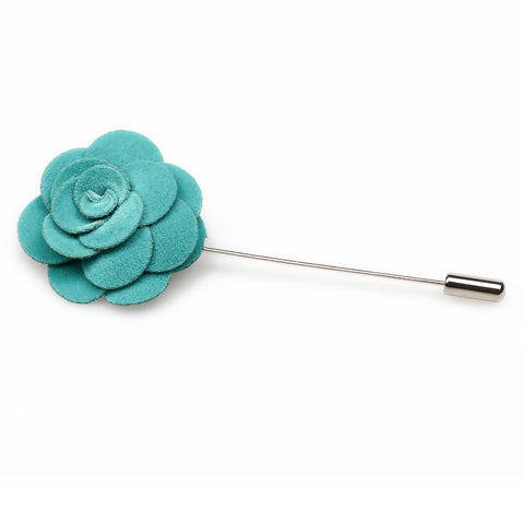 Teal Mini Velvet Lapel Pin