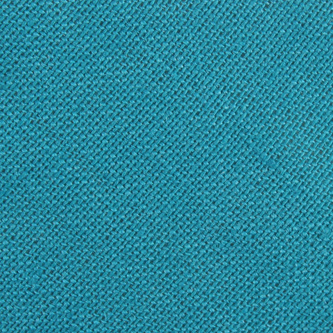 Teal Slub Linen Pocket Square