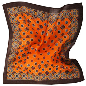 The Merchant of Venom 'Don Rickles' Orange Wool Pocket Square