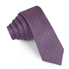 The Abacos Pink Anchor Skinny Tie