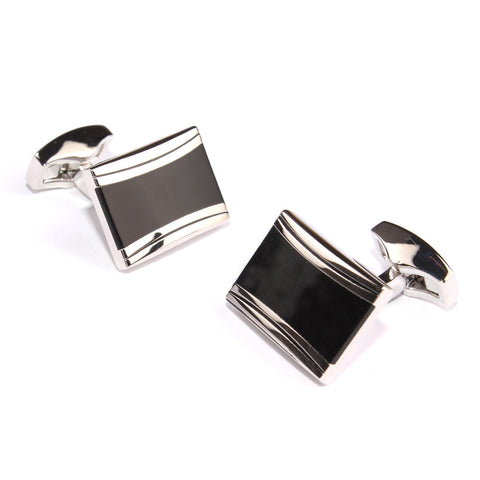 The Black Knight Rectangle Cufflinks