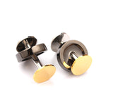 The Gold Gun Benjamin Button Cufflinks Front OTAA