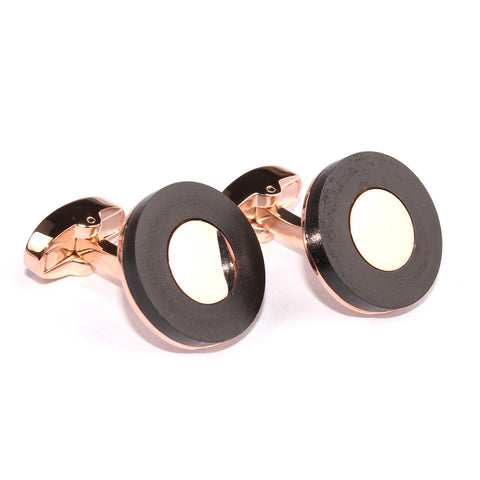The Kingsman Black and Rose Gold Cufflinks