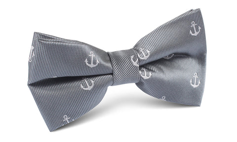The OTAA Charcoal Grey Anchor Bow Tie