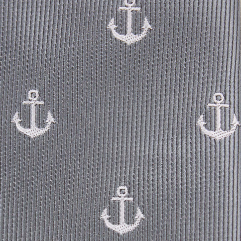 The OTAA Charcoal Grey Anchor Kids Bow Tie