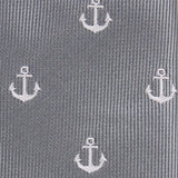The OTAA Charcoal Grey Anchor Fabric Self Tie Bow Tie M100