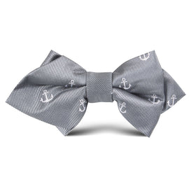 The OTAA Charcoal Grey Anchor Kids Diamond Bow Tie