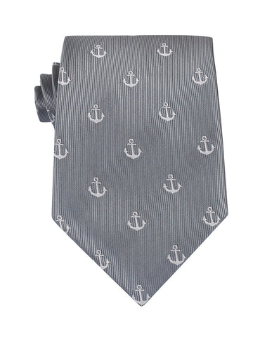 The OTAA Charcoal Grey Anchor Necktie