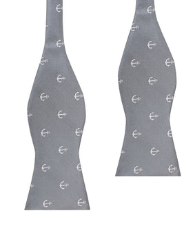 The OTAA Charcoal Grey Anchor Self Tie Bow Tie