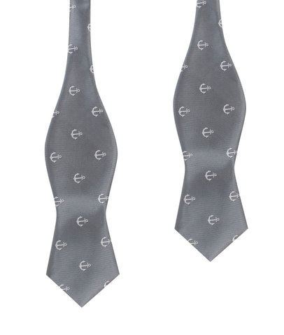 The OTAA Charcoal Grey Anchor Self Tie Diamond Tip Bow Tie